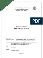 Programa Lengua Española III 2012