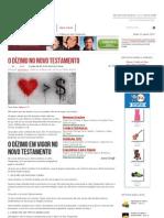 O Dízimo no Novo Testamento - Graça Maior - Verdades Bíblicas