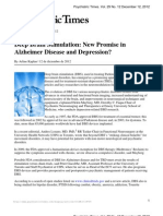 Deep Brain Stimulation New Promise in Alzheimer Disease and Depression