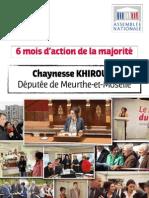 6 mois d'action de la majorité - Chaynesse KHIROUNI