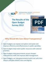 Open Budget Survey 2012 World Bank presentation
