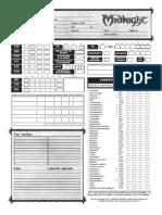 Cahracter Sheet