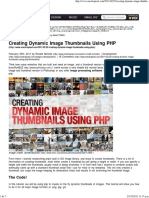 Creating Dynamic Image Thumbnails Using PHP