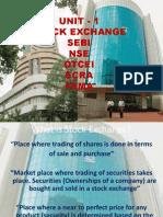 unit 1 stock exchange