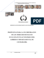 Propuesta Estatutos Autonomicos Cochabamba