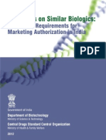 India Guidelines Bioimilars July 2012