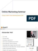 Online Marketing Seminar Auszug Slideshare