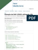 Exemplo de DAO (CRUD) Utilizando JPA - Public Class UniversidadeJava {
