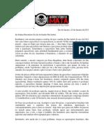 Carta - Campanha Contra Os Agrotoxicos Ao GRES Vila Isabel