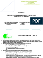 Optical Cables Management System for 500kv Hvac Networks