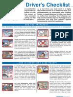 Taxi Driver Checklist