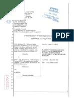 Plaintiffs Memorandum in support of motion for receivership