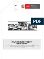 Prueba docente 2013- EBR Secundaria -Lima Metropolitana