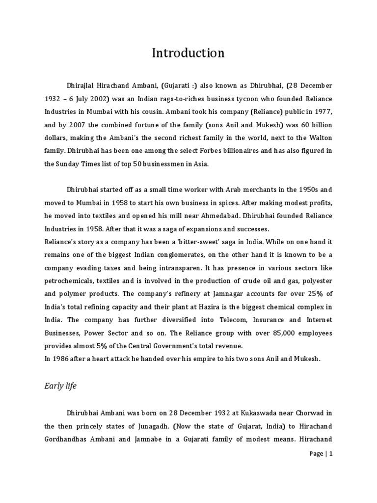 informaion about dhirubhai ambani in hindi Develop and set up unit selection based speech synthesis system for marathi, hindi,  dhirubhai ambani institute of information and communication technology.