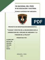 Causas y Efectos de La Delincuencia en La Jurisdiccion Del Cercado 31 de Enero
