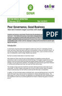Poor Governance, Good Business: How land investors target countries with weak governance