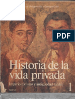 Duby Historia de La Vida Privada Tomo 1 Taurus 1987