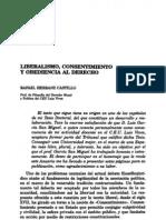 Liberalismo, Consentimiento y Obediencia Al Derecho - Rafael Herranz Castillo