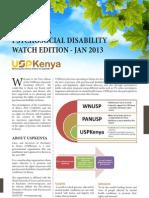 Kenya Psychosocial Disability Watch January 2013 Edition