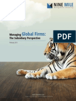 Managing Global Firms - The Subsidiary Perspective