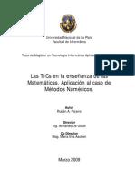 Las TICs en la enseñanza de las matematicas ..aplicacion al caso de metodos numericos