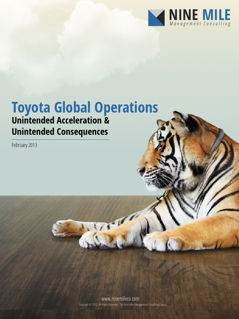 Toyota global operations unintended acceleration and unintended consequences toyota japanese yen