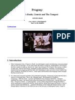 Progeny-Prospero's Books, Genesis and The Tempest