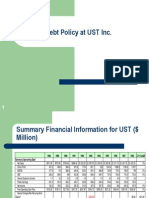debt policy at ust inc questions Read this essay on debt policy at ust inc come browse our large digital warehouse of free sample essays get the knowledge you need.