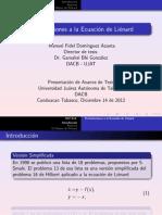 MFDA Perturbaciones a la ecuacion de Liénard