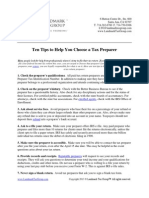 Ten Tips to Help You Choose a Tax Preparer