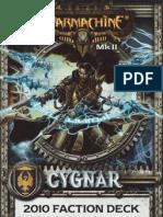 Cygnar MK II 2010 Cards