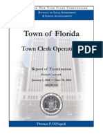 Comptroller's Audit of the Town of Florida