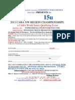 CABA 2013 NW Region 15U Championships registration form