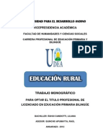 Trabajo Monografico Educacion Rural