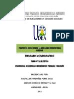 Trabajo de Propuesta de Eib 2012 Udea