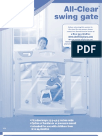Manual for First Year's Swing Gate