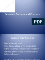 Research, Sources and Citations
