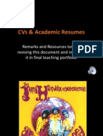 CVs and Academic Resumes
