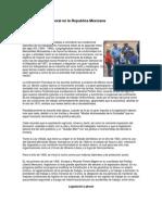 La Legislacion Laboral en La Republica Mexicana