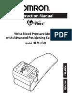 Omron HEM-650 Manual