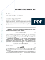 Lorentz Transform of Black Body Radiation Temperature