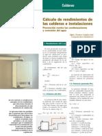 cálculo de rendimiento de calderas e instalaciones