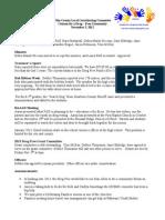 November 2012 Drug Free Minutes