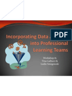 incorporating data analysis into plts