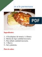 Escalopines a La Parmesana