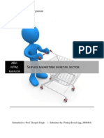 Service marketing in retail sector