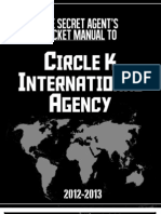 The Secret Agent's Pocket Manual to Circle K International Agency (2012-13)