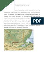 Mapa de Los Distintos Territorios Mayas