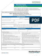 West-Penn-Power-Co-Test-In-Rebate-Application-Form