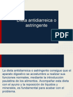 Dieta Antidiarreica o Astringente